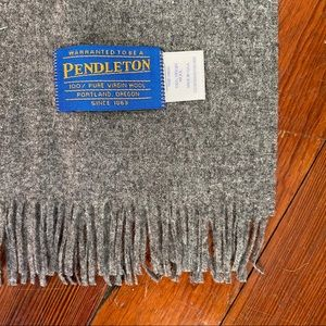 Pendleton Accessories - Pendleton Vintage Gray 100% Virgin Wool Scarf NWT